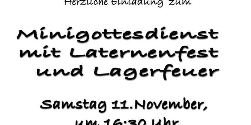 Einladung zum Martinsfest mit Laternenumzug
